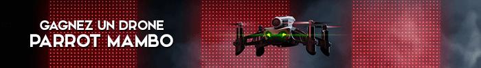 Gagnez un drone Parrot Mambo sur Jeux-Gratuits.com
