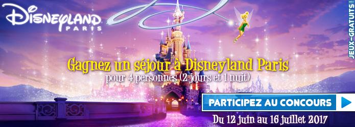 Jouez et gagnez un séjour à Disneyland Paris sur Jeux-Gratuits.com