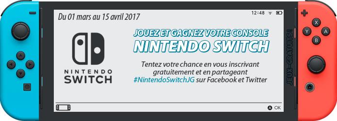 Jouez et gagnez une console Nintendo Switch sur Jeux-Gratuits.com