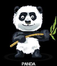 Panda avec bambou