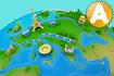 Jeu Jeu de Quizz de Géographie 3D